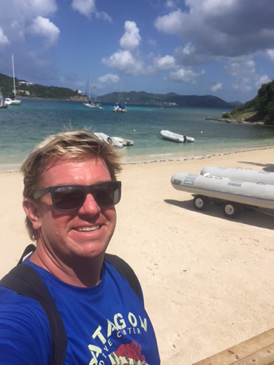 David Tomkins at scuba diving center st.thomas st. john us virgin islands